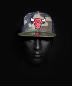 Čepice NewEra Trucker - Chicago Bulls Washed Cammo