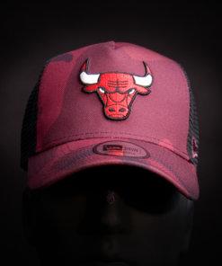 Čepice New Era 9FORTY Chicago Bulls Trucker RED